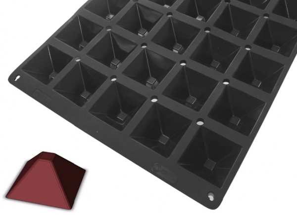 Plaque silicone Moul'Flex Pro De Buyer Mini-Pyramides - DE BUYER