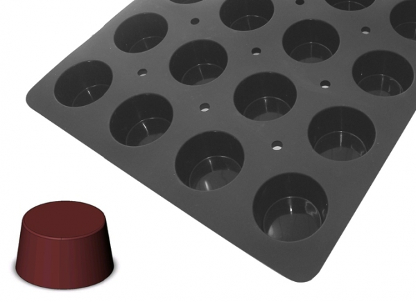 Plaque silicone Moul'Flex Pro De Buyer Portions Muffins - DE BUYER