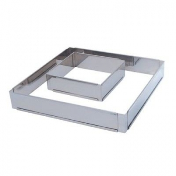 Forme ajustable carrée inox De buyer