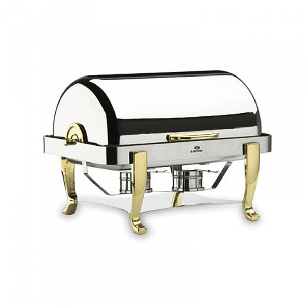 Chafing Dish 1/1 Roll Top Pieds Laiton Lacor - LACOR